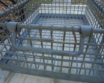 Stackable Industrial Metal Wire Baker's Cooling Rack with Handles, Industrial Wire Crate, Industrial Metal Baskets, Industrial Home Decor
