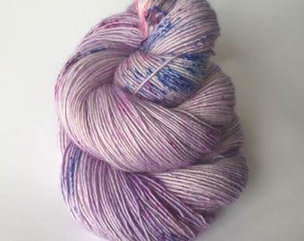 Hand dyed merino single ply sock weight yarn ~ Hyacinth Bucket ~