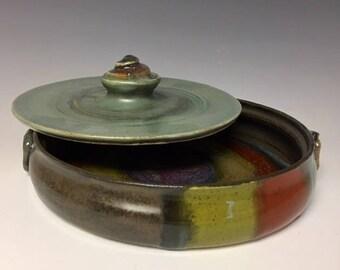 Ceramic Covered Tortilla / Pita Bread Warmer