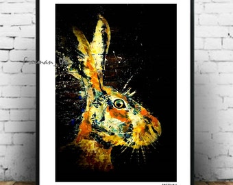 The Hare, Fine art Giclee print