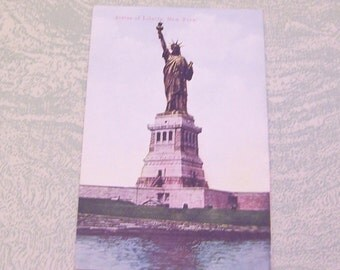 Vintage Statue of Liberty postcard New York City