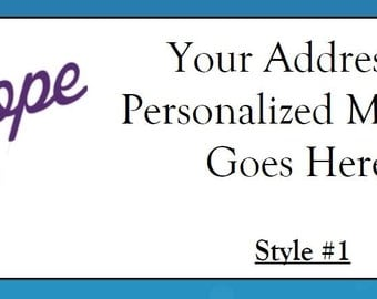 60 Personalized Alzheimer's Awareness Return Address Labels