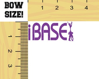 CHEER BOW SIZE I Base Iron On Decal