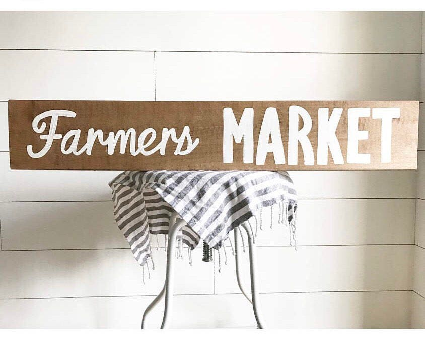 Farmers Market Sign   Farmers Market   Kitchen Sign   Kitchen Decor   Wood  Sign