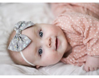 Vintage Gray baby bow