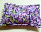 Port Softie Seatbelt Pad for Chemotherapy Patients - Purple Clematis print