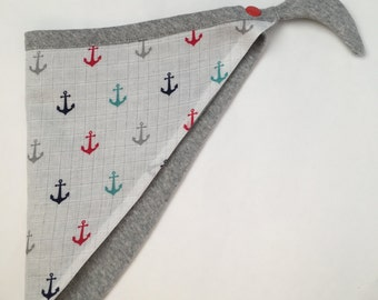 Anchor baby bandana bib, Baby muslin bib, bandana bib, knit bandana bib,  muslin bandana bib