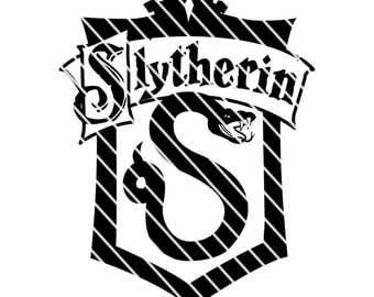 Harry Potter Syltherin Crest - Simple SVG file