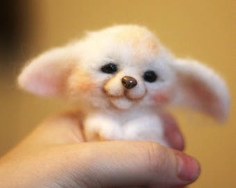 Needle felted fennec-Fennec -Fennec fox-Figure fox