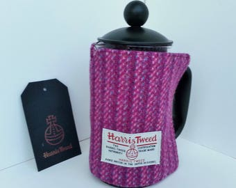 Harris Tweed Small Cafetiere Cosy Pink