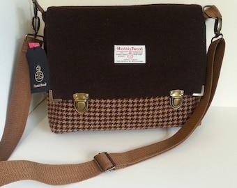 Harris Tweed Satchel / Messenger Bag Brown