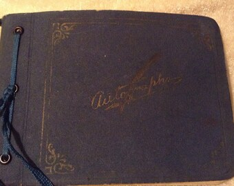 1937-38 Autograph Book Hastings Nebraska
