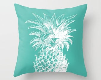 Pineapple Pillow   - Aqua pillow  - Modern Home Decor - By Aldari Home