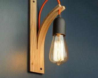 Wall Light Bracket HARDWIRED TO MAINS English Elm