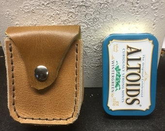 Leather Altoid tin case