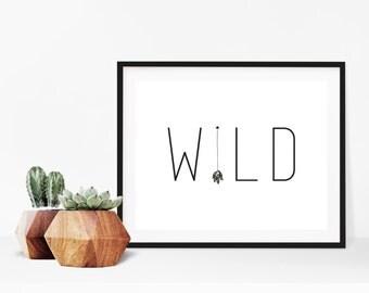 Wild Arrow Sign Digital Print