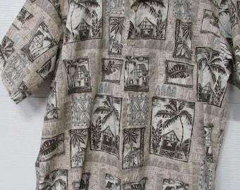 Cooke Street Honolulu Hawaiian Shirt Made in Hawaii Size Large