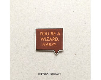 Harry Potter pin, You're a wizard Harry, Hagrid