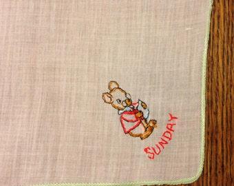 Sunday Linen Handkerchief