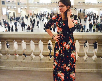 Grand Central Floral Maxi Dress