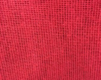 """Burlap Jute Hessian Red Fabric 34"""" By the Yard Jute 100% Natural"""