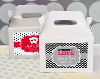 Vegas Mini Gable Boxes , Personalized (set of 24)