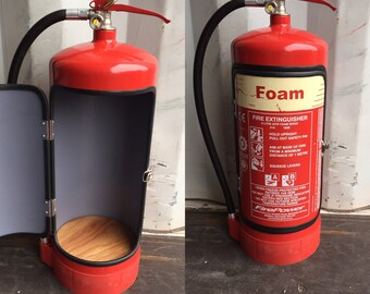 Novelty upcycled fire extinguisher mini bar recycle man cave gift