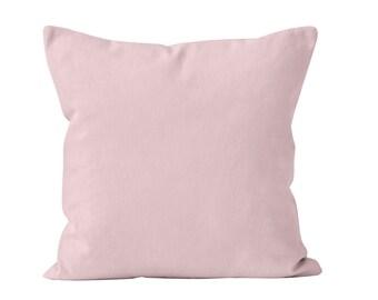 Light Pink Pillow Cover, Pastel Pink Pillow Cover, Light Pink Decor, Neutral Pink Decor, Minimalist Pillow Cover, Pastel Pink Cushion Cover
