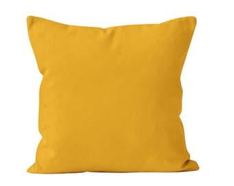 Zinnia Yellow Pillow Cover, Gold Yellow Pillow Cover, Sunflower Yellow Throw Pillow Cover, Summer Decor, Vibrant Yellow Home Decor
