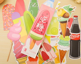 Ice Cream Bookmarks, Candy Bookmarks, Coca Cola Bookmarks