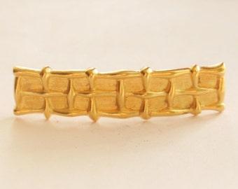 Matt Gold Hair Barrette // Hair Clip // Gold Plated // Ladies Accessories //