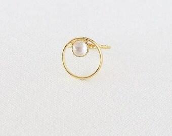 Gold Orb Ring