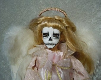 Skull Face Angel Doll #90 doll stand not included