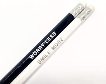 Motivational pencils, set of 3 engraved