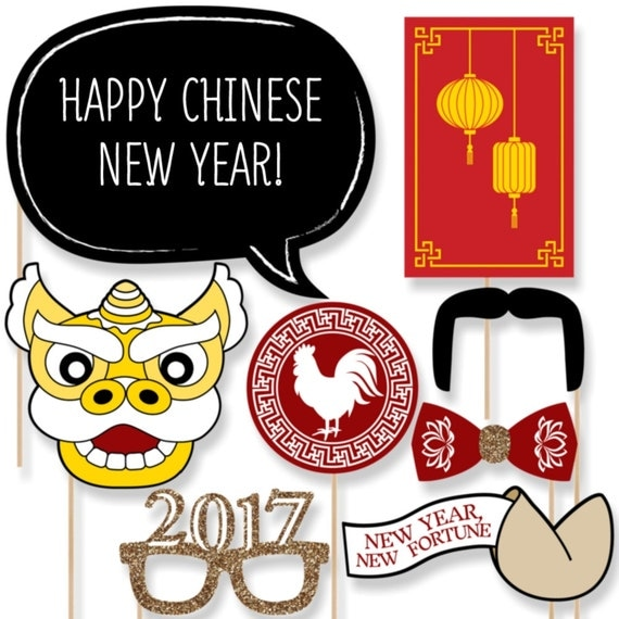 2017 Chinese New Year Photo Booth Props Year Of The