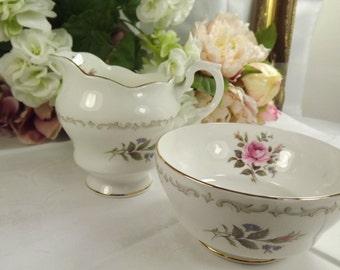 Sugar and Creamer Set, Vintage Royal Standard