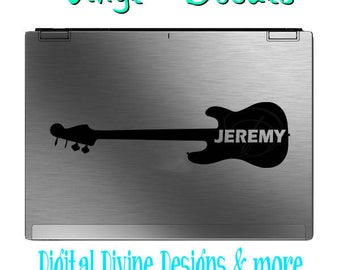 Personalized Bass Guitar Vinyl Decal