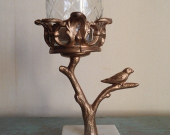 Vintage Bird Candleholder with Marble Base!