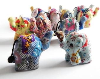 ELEPHANT Set 100 - Elephant keychains, Animal keychain, Stuffed elephant, Elephant key ring, Gift