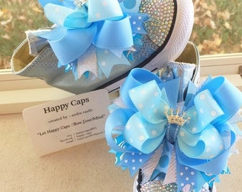 CINDERELLA Inspired Princess Shoe Toppers/Hair Bow