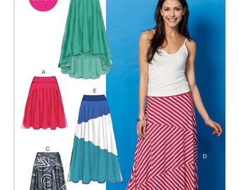 McCall's Sewing Pattern M6966 Misses' Knit Skirts