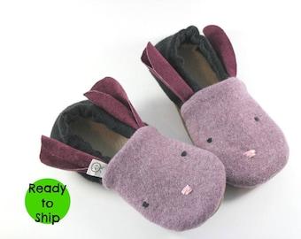 Kids Bunny Slippers- Gift for Kids- Girl Gifts- Kids Pajamas- Kids Slippers- Wool Bunny- Rabbit- Christmas Gift- Stocking Stuffer- Daughter