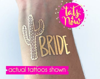 Fiesta bachelorette party // cactus themed gold tattoos // mexico weekend // palmsprings bachelorette // Let's fiesta // cabo // by Tats4now