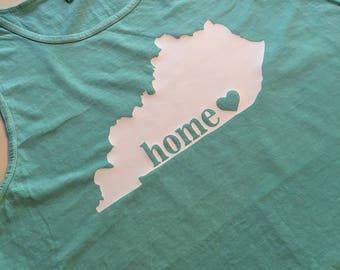 "Comfort Colors Kentucky ""Home"" Tank / Kentucky Tank Top"