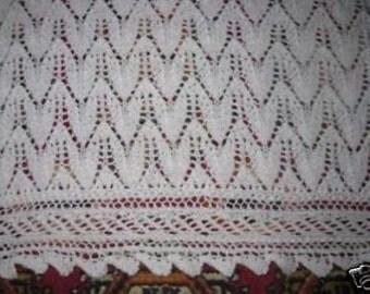 DELICATE CHRISTENING SHAWL heirloom, baby, blanket, handmade,lace