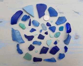 BLUES & TURQUOISE SEAGLASS ~ Stunning Colours ~ English Sea Glass ~ Beach Glass ~ Shards Pieces ~ Poison Medicine Bottles ~ Embossed