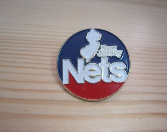 Vintage New Jersey Nets 1989 NBA Lapel/ Hat Pin
