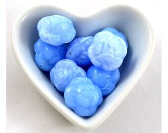 Czech glass beads 20mm Rose : Baby blue / Lt. Saphire