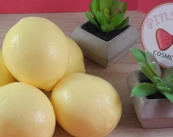 Lemon Shaped Goat's Milk Soaps