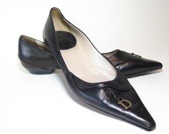 Christian Dior Vintage Leather Pumps Size 38.5 / 9
